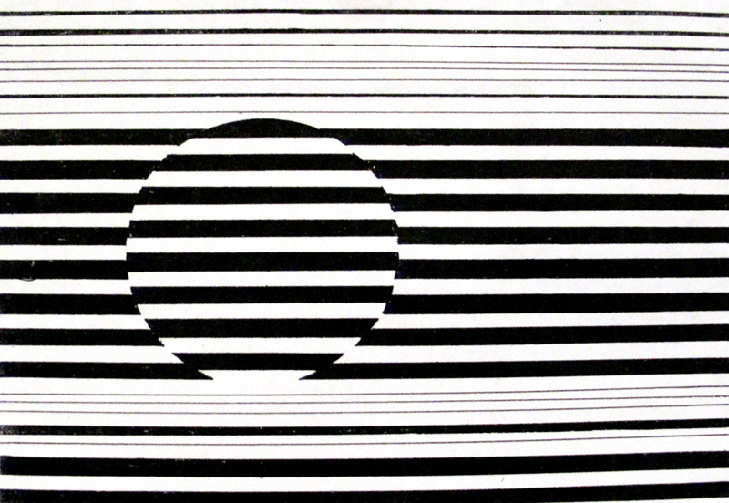 Drawing Using Only Horizontal Lines : Creating a circle with parallel lines